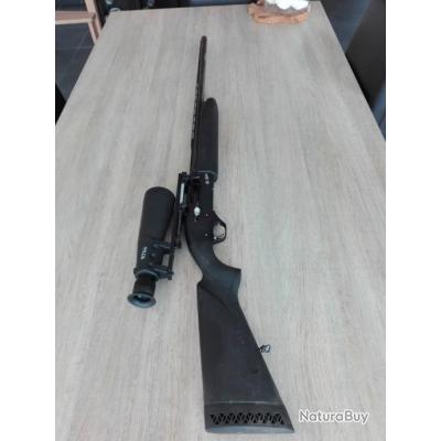 Fusil Baïkal semi auto canon 76 chambre 89 avec lunettes 9 63 réglé sur le fusil
