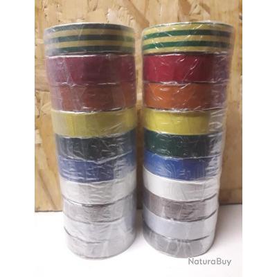 20 Adhésifs électricien multicolore