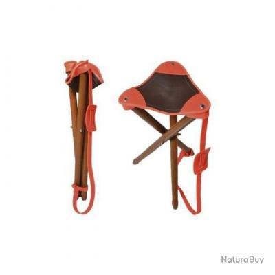 Trepied bois / cuir blaze  Stepland 60cm