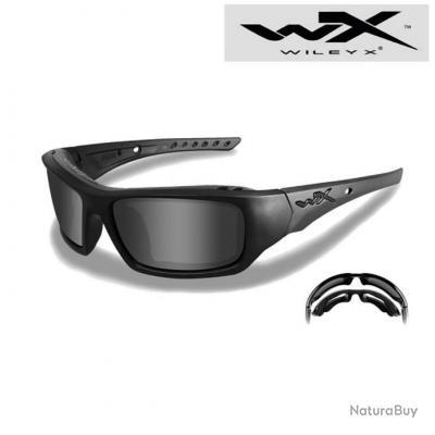 Lunettes de Protection WILEY X Arrow Monture Noire - Verres Fumés