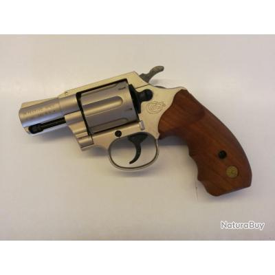 Colt détective spécial 38 à blanc, nikelé crome