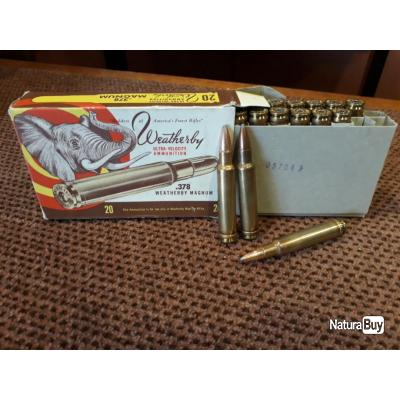 Munitions 378 Weatherby 270 grains Soft Point