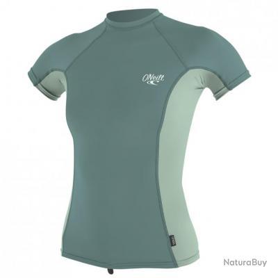O'Neill Tshirt Femme Anti UV Manches Courtes Menthe Eucalyptus XL Multi