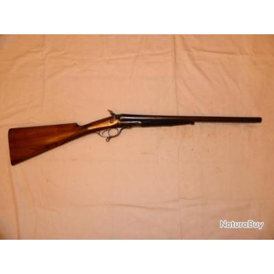 """Fusil type coach gun """"Cogswell & Harrison"""" cal. 12 éprouvé poudres vives"""
