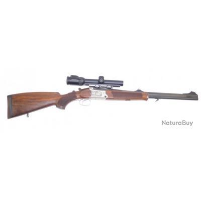 Carabine de chasse  superposé Express Merkel B3 calibre 30R Blaser lunette Swarowsky Zi8 1-8x