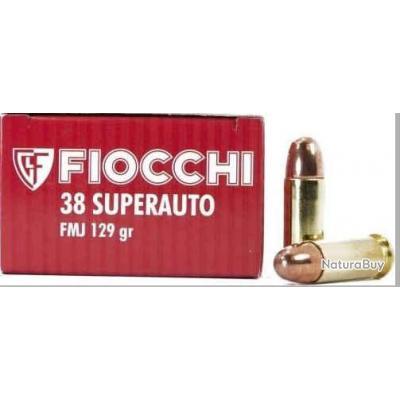 Boite de 50  munition calibre 38 Super auto FMJ 129grs