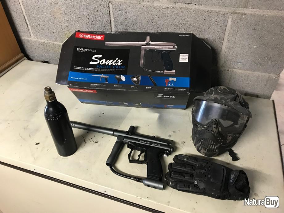 Annonce billes paintball : Lancer paintball SPYDER SONIX pack
