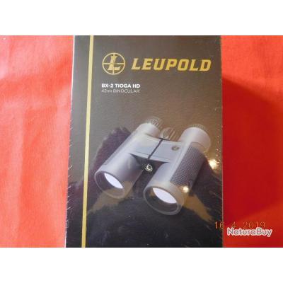 JUMELLE LEUPLOD TIOGA HD  neuf, BX 2   8X42