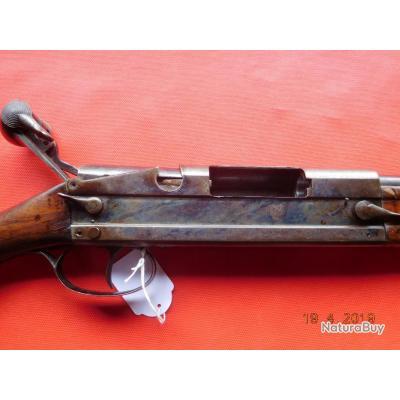 Fusil 1 coup d'occasion 70 mm 67 cm Nemrod 16 Jaspé, arme se coupant en 2 parties sans outil,