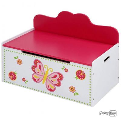 Banc Coffre à Jouets Chambre Enfant Papillon 68 Cm 3001001