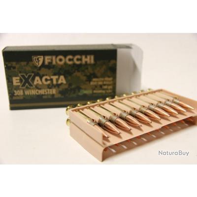 Munitions Fiocchi Exacta calibre 308 win 168 HPBT