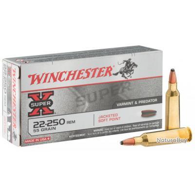 """( Balle Sinc Core Lead Free)Munition grande chasse Winchester Cal. 22-250 REM"""