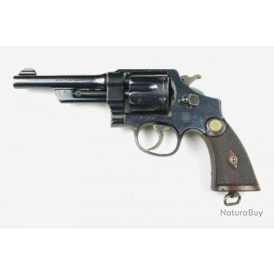 "Rare Revolver Smith & Wesson Mod Heavy Duty 38/44  5"" 1er type pre-war cal .38 Super Police et 38 SW"