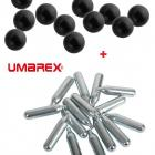 Promo!! Pack Recharge Walther T4E HDS68 50 Balles Coutchouc + Metal Cal. 68 + 5 Capsules CO2 UMAREX