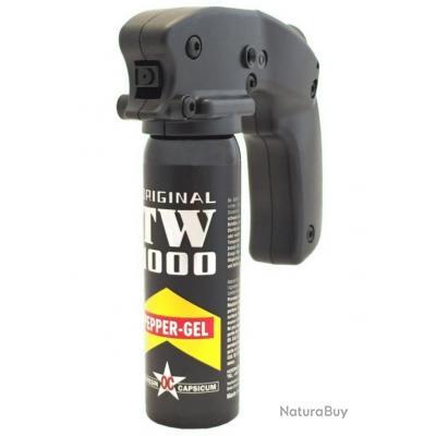 Bombe lacrymogène Pepper-Gel avec poignée 100 ml [TW 1000]