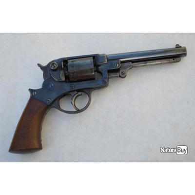 REVOLVER STARR New York 1856 1863 Double Action Calibre 44 - USA XIXè Très bon  U.S.A. XIX eme Civil