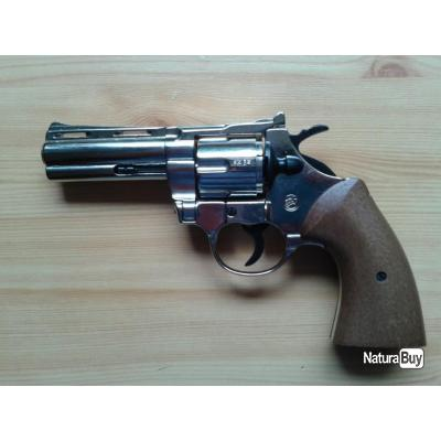 Revolver d'alarme Bruni Python Chrome 9 mm