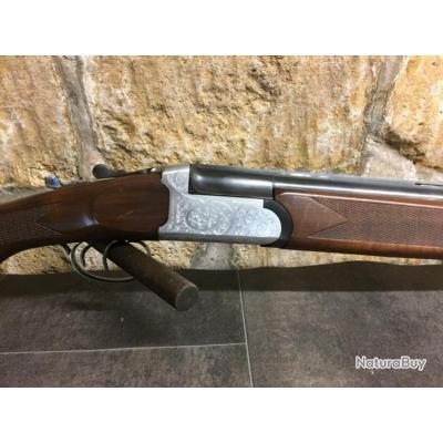 Fusil superposé calibre 12 artisanal italien verrou transversal