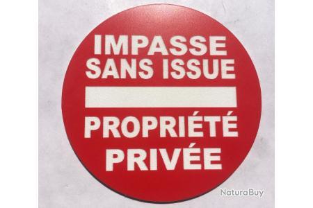 plaque gravée PROPRIETE PRIVEE SIGNALETIQUE format 150 X 75 MM