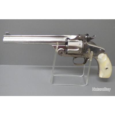"""SMITH&WESSON modèle RUSSIAN  TARGET ''contrat japonais""""  calibre 38 ,nickelé,plaquette nacre"""