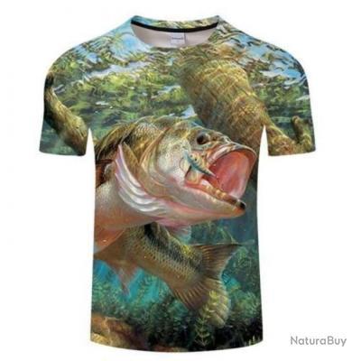 T shirt Fishid 3D Bass underwater