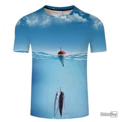 T shirt Fishid 3D Drop fishing