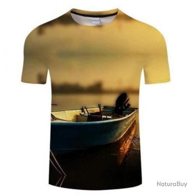T shirt Fishid 3D Barquo