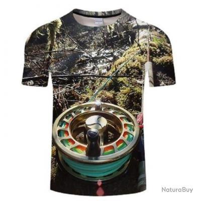 T shirt Fishid 3D Session mouche