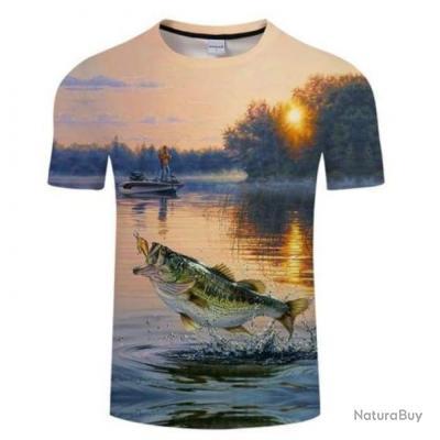 T shirt Fishid 3D Bass Catched