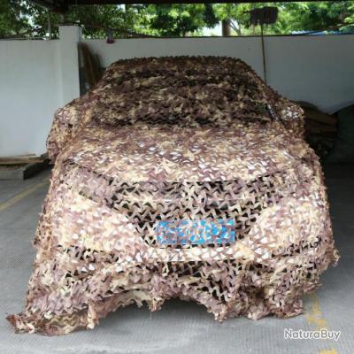 Bâche de camouflage Desert Camel - 3 couleurs - 1.5 m x 4 m Blanc