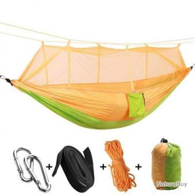 Hamac et moustiquaire Mavril Bootcamp - 12 Couleurs - Vert / Orange