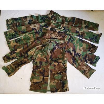 Lot n°4 de 5 Vestes Camo Armée Allemande (avec défauts)