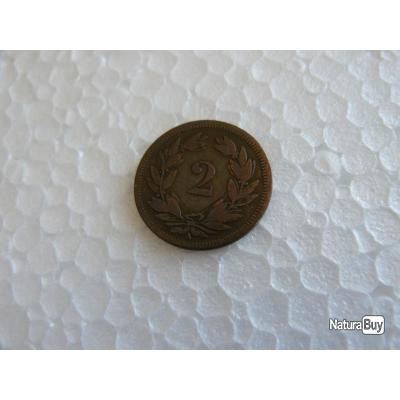 monnaie suisse 2 centimes 1851 A