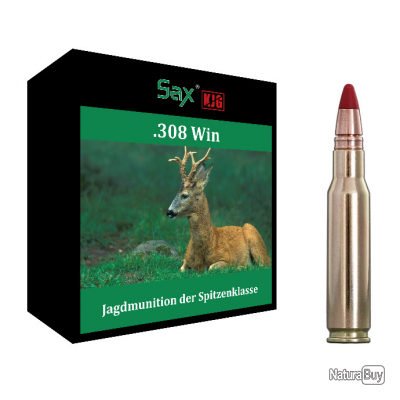Munitions SAX calibre .338 Win Mag KJG-SR 9,0g boite de 20 munitions