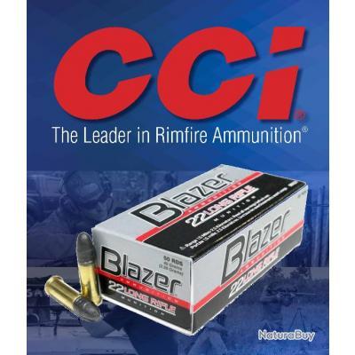 Munitions CCI Cal 22LR BLAZER HV Boite de 500