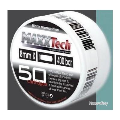 Lot de 10 Boites de 50 Balles à blanc 8mm MaxxTech Pistolets Ekol, Chiappa, Kimar, Walther, ISSC etc
