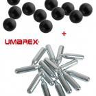 Promo!! Pack Recharge Walther T4E HDS68 50 Balles Coutchouc Calibre 68 + 5 Capsules CO2 UMAREX