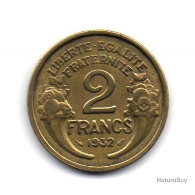 Pièce de Monnaie France 2 francs Morlon 1932