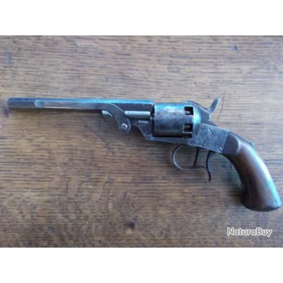 Rare revolver type Kinapen précurseur dans les années 1850-60 calibre 36