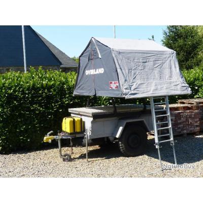 Remorque tous terrains avec tente de toit OVERLAND
