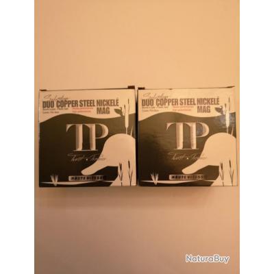 2 boîtes de 25 = 5 cartouches Tunet Premier  Duo Copper Steel Nickelé cal 12/76 N°4/6 SUPER PRIX !!!