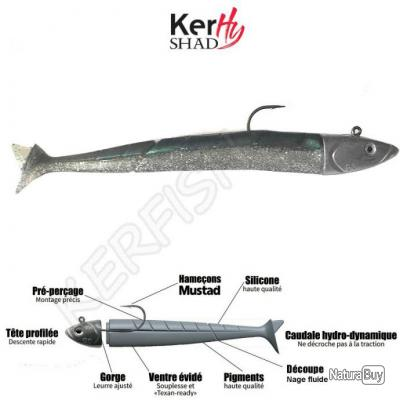 KERHY SHAD KLM Green'Eel 16 cm / 65 g