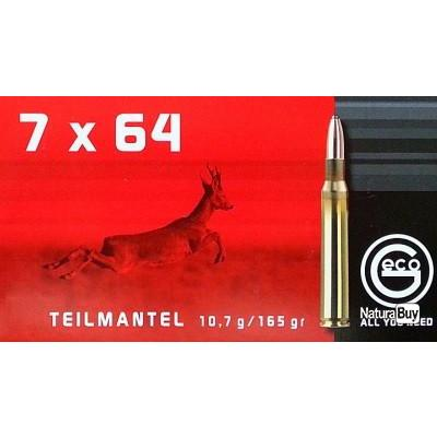 DESTOCKAGE 2x boites GECO 7x64 TM DEMI BLINDEE10.7g/165gr