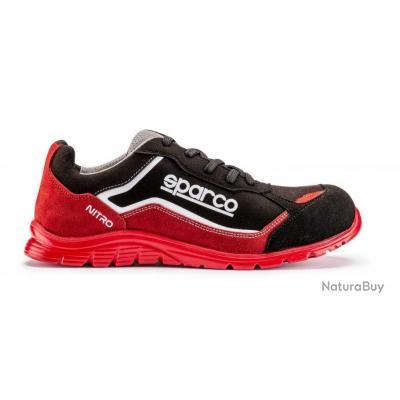 Chaussures de sécurité basses S3 SRC Sparco Teamwork Nitro Noir Rouge