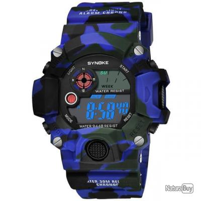 Montre tactique Spralo - 3 couleurs - Bleu