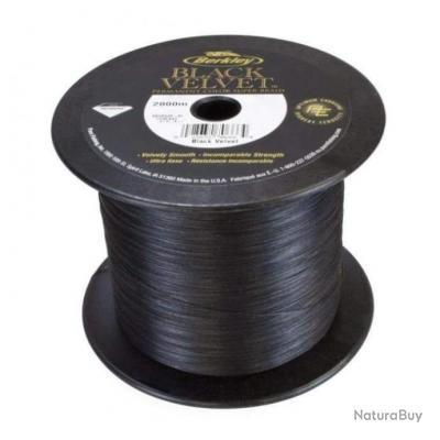 Tresse Berkley Black Velvet - 2000 m - 10/100 - 11,9 kg