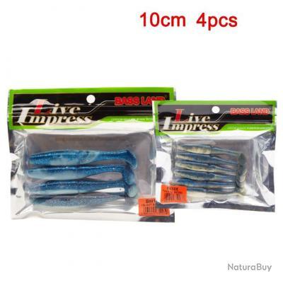 Enchère 1 € !!! Pack 4 Leurres Souple Shad Blue   - 10 cm - 7.5 gr