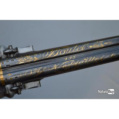 FUSIL DE CHASSE PAR BOUTET A VERSAILLES monté Argent 1798 - 1809 - FR Consulat Premier Empire France