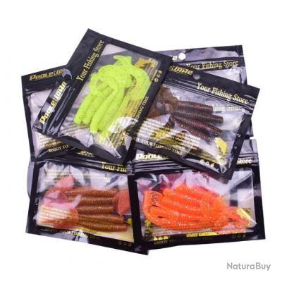 Enchère 1 € !!! Pack 5 Leurres Souple TWIST - 9 cm - 4 cm - Yellow