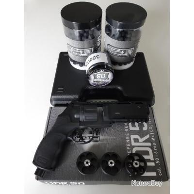 T4E HDR 50 Revolver Walther cal.50 en 11 joules, malette de transport, consommables